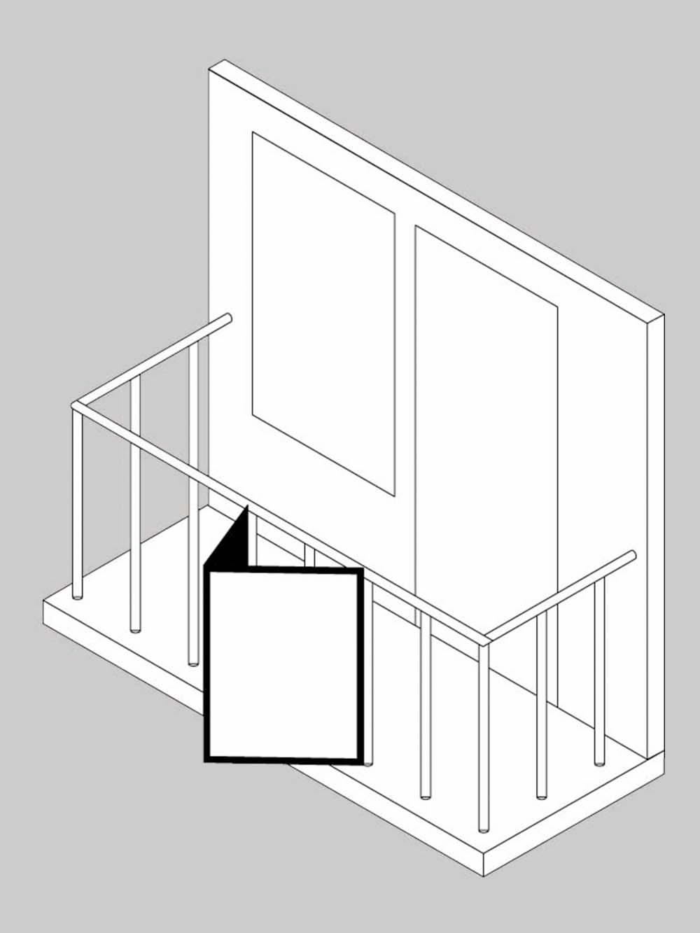 Makelaarsbord balkon